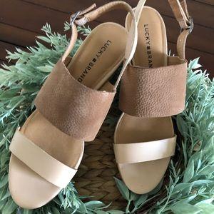 Lucky Brand || Nude Sandal ||  8.5 M
